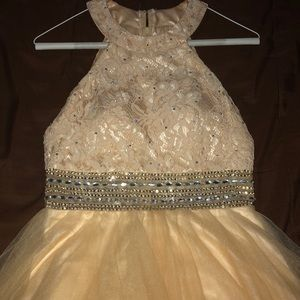 champagne formal dress